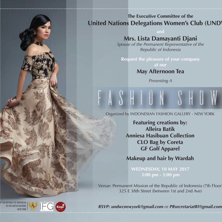 United Nations - UNDWC - May Afternoon Tea - Fashion Show - Irene Simbolon - 5th & Batavia - 60